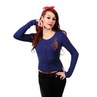 Banned Cardigan - Anchor Rose Blue