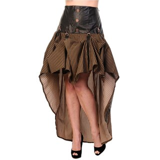 Banned Steampunk Skirt - Victorian Stripes