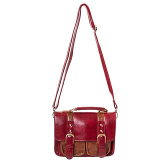 Banned Handbag - Leather Leila Red