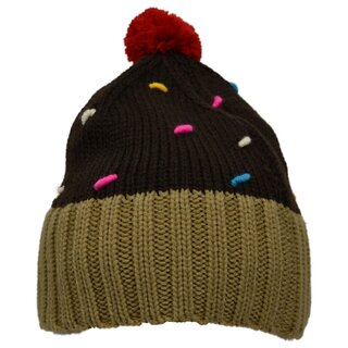 Cupcake Cult Winter Hat - Cupcake Hat Brown