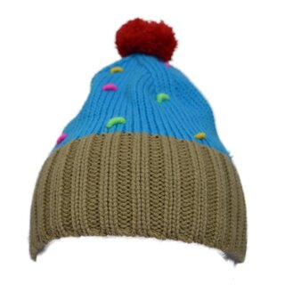 Cupcake Cult Winter Hat - Cupcake Hat Blue