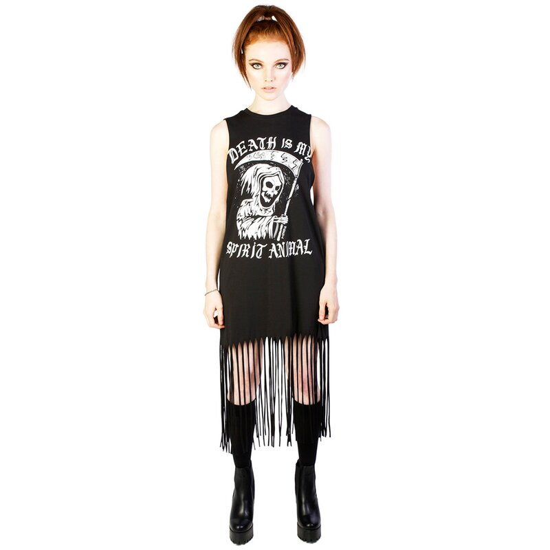 Disturbia Fringe Dress - Spirit Animal