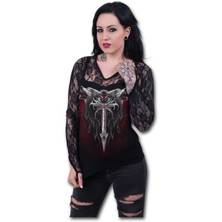 Spiral Longsleeve Lace Top - Legend Of The Wolves