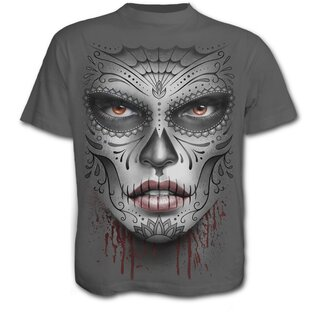 Spiral T-Shirt - Death Mask Grau