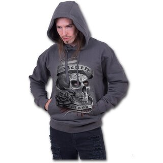 Spiral Sweatshirt Hoodie - Death Mask Grey