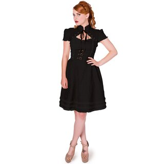 Banned Vintage Gothic Kleid - Rise Of Dawn Schwarz XL