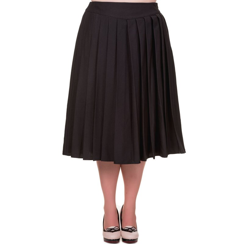 Banned Pleated Skirt - Take A Hike Black