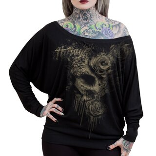 Hyraw Ladies Batwing Top - Death