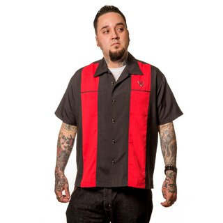 Steady Clothing Vintage Bowling Shirt - Classy Piston Rot L