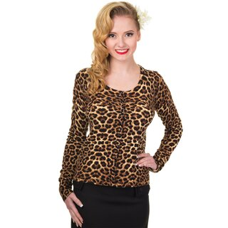 Banned Cardigan - Crazy Love Leopard S