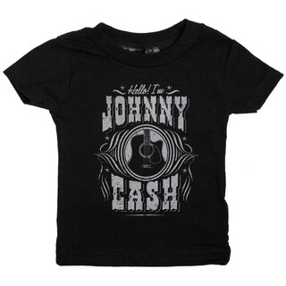 Johnny Cash Kids T-Shirt - Hello Im Johnny