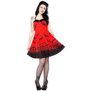 Sourpuss Neckholder Dress - Spooksville Dress Red