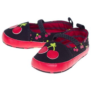 Sourpuss Baby Shoes - Cherry Mary Janes