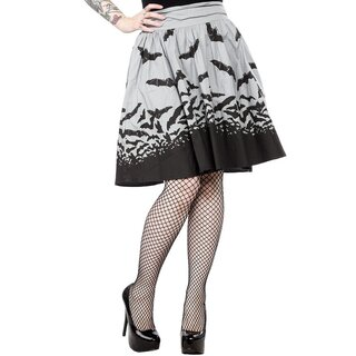 Sourpuss Swing Skirt - Spooksville Grey