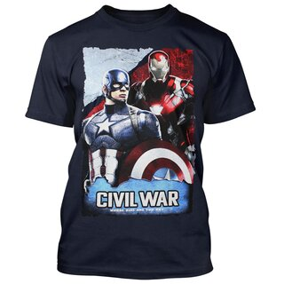 Captain America & Iron Man T-Shirt - Whose Side Are You On