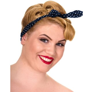 Banned Headband - Polka Dot Misha Blue