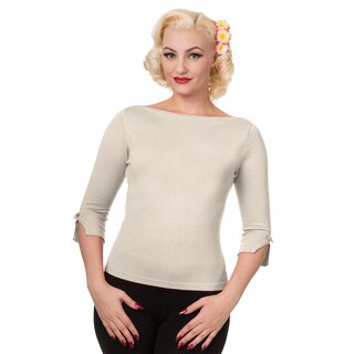 Banned Vintage Ladies Jumper - Addicted Sweater White