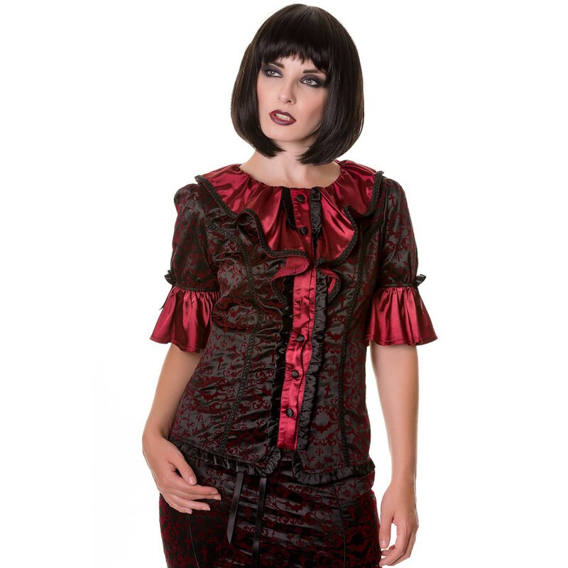 Banned Gothic Blouse - Ivy Pattern