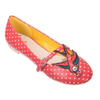 Dancing Days Ballerina Flats - Mercy Swallow Red