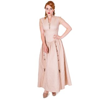 Banned Gothic Dress - Rise Of Dawn Maxi Beige