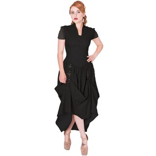 Banned Gothic Kleid - Rise Of Dawn Maxi Schwarz S