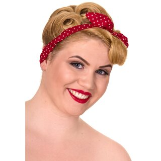 Banned Headband - Polka Dot Misha Red