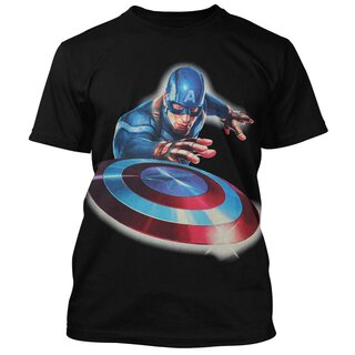 Captain America T-Shirt - Launched The Shield