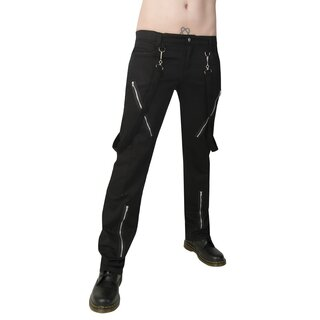 Black Pistol Jeans Trousers - Punk Pants Denim