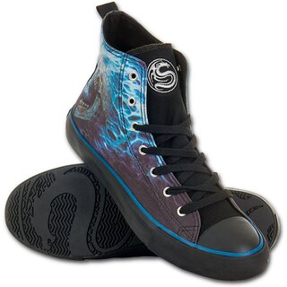 Spiral High Top Sneakers - Flaming Spine