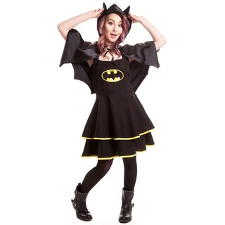 Batman Neckholder Dress with Cape - Bat Cape