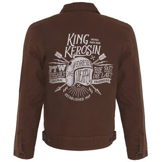 King Kerosin Vintage Canvas Workerjacke - Ride Fast Die...