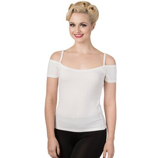 Banned Rockabilly Top - Reminisce White