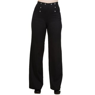 Dancing Days Flared Trousers - Stay Awhile Black
