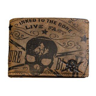 Jacks Inn 54 Bifold Leather Wallet - Tequila