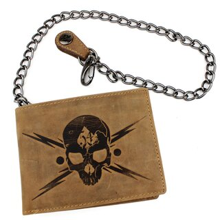 Jacks Inn 54 Leather Wallet with Chain - Absinth