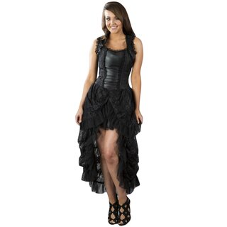 Burleska Corset Dress - Isabella Brocade Black