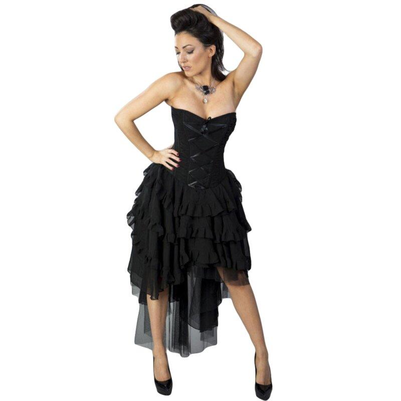 Burleska Korsett Kleid - Beverly Chiffon Schwarz, € 109,90