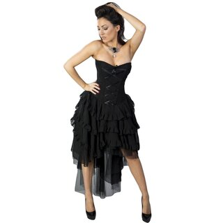Burleska Corset Dress - Beverly Chiffon Black