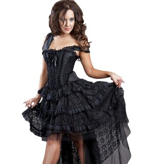 Burleska Corset Dress - Ophelie Taffeta Black