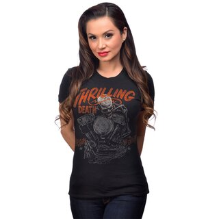 Steady Clothing Damen Rockabilly Biker T-Shirt -...