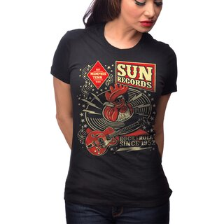Sun Records by Steady Clothing Girlie T-Shirt - SR Hop
