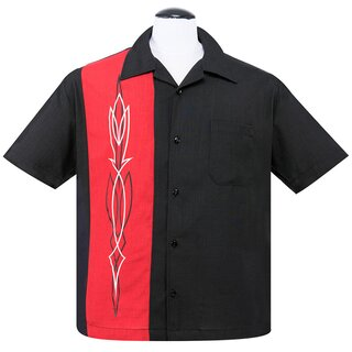 Steady Clothing Vintage Bowling Shirt - Hot Rod Pinstripe...