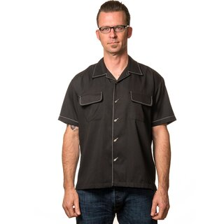 Steady Clothing Vintage Bowling Shirt - Musician