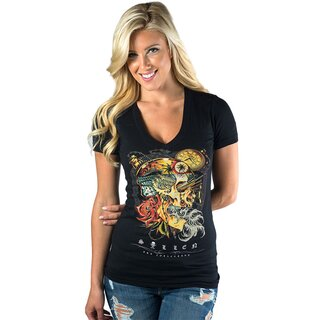 Sullen Angels Damen V-Hals T-Shirt - Artistic Dream