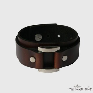 Leather bracelet - Brown Buckle