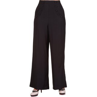 Dancing Days Flared Trousers - Full Moon Black