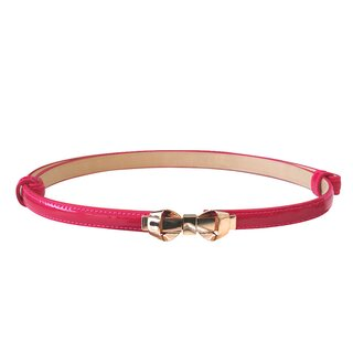 Banned Faux Leather Belt - Bitter Sweet Hot Pink