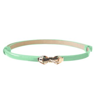 Banned Faux Leather Belt - Bitter Sweet Mint Green