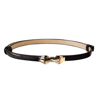 Banned Faux Leather Belt - Bitter Sweet Black
