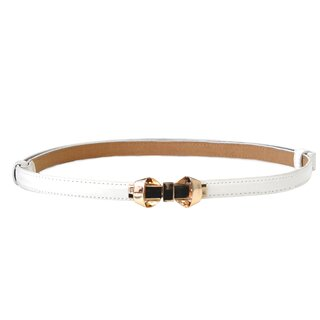 Banned Faux Leather Belt - Bitter Sweet White